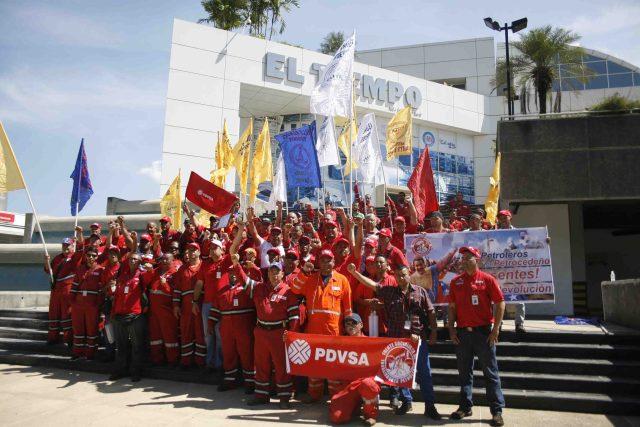 Trabajadores de PDVSA / Foto: Daniel Olivares
