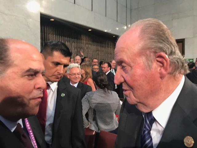 Diputado Julio Borges y el rey de España Rey Juan Carlos I