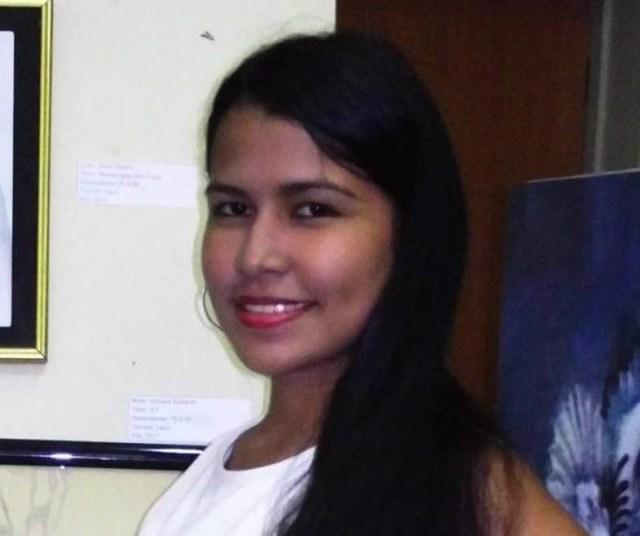 La joven María Gracia Reyes, de 18 años de edad