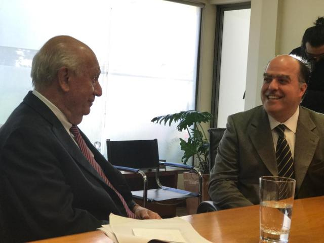 Julio Borges reunido con el expresidente chileno, Ricardo Lagos // Foto Prensa