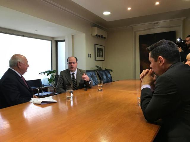 Carlos Vecchio y Julio Borges reunidos con el expresidente chileno, Ricardo Lagos // Foto Prensa