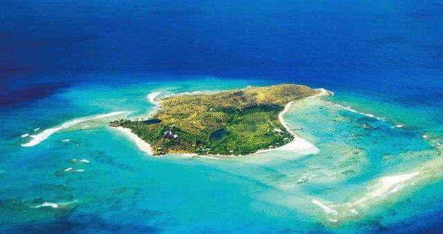 Vista aérea de este paraíso de las Islas Vírgenes Británicas