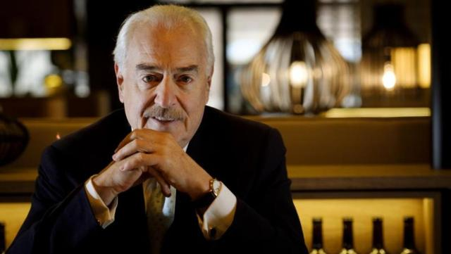 Andrés Pastrana, durante la entrevista este lunes en Madrid - José Ramón Ladra