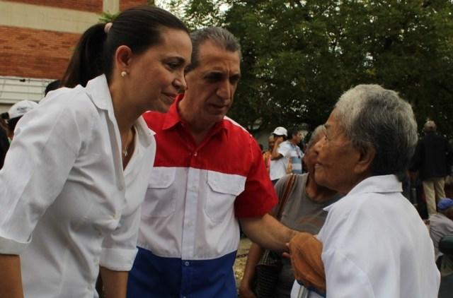 Biagio Pilieri y María Corina Machado en Yaracuy // FOTO Prensa