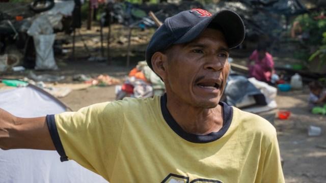 Remigio Segundo Romero Yordes dijo que su comunidad no tenía más opción que huir de Venezuela (Foto Bram Ebus / Al Jazeera)