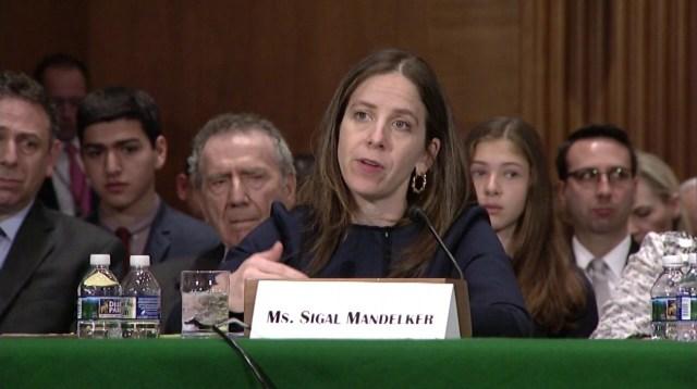Sigal Mandelker, subsecretaria de Terrorismo e Inteligencia Financiera del Tesoro. Foto: YouTube