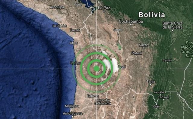 Segundo sismo se siente al norte de Chile// Foto @ChileAlertaApp