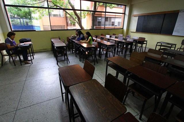 Los salones de la Universidad de los Andes en San Cristóbal, Táchira / Foto AFP / GEORGE CASTELLANOS 23, 2018. / AFP PHOTO / GEORGE CASTELLANOS / TO GO WITH AFP STORY by ALEX VAZQUEZ