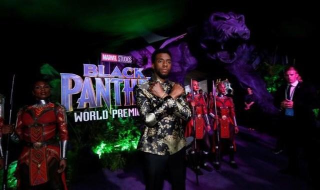 """En la foto de archivo el actor Chadwick Boseman, en la premiere de la película """"Black Panther"""" en Los Angeles, California, Estados Unidos. 29 de enero de 2018, 2018. REUTERS/Mario Anzuoni"""