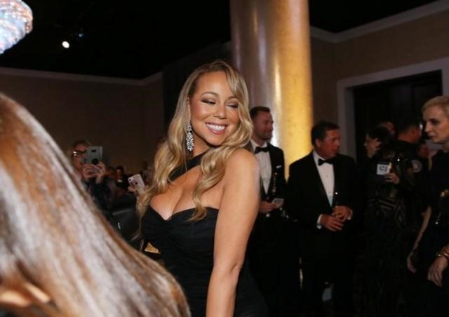 La cantante estadounidense Mariah Carey a su llegada a la entrega de los premios Globos de Oro en Beverly Hills, ene 7, 2018.  REUTERS/Lucy Nicholson