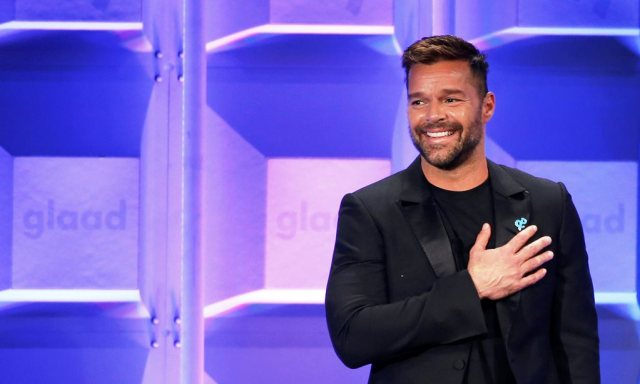 Presenter Ricky Martin speaks at the 29th Annual GLAAD Media Awards in Beverly Hills, California, U.S., April12, 2018. REUTERS/Mario Anzuoni