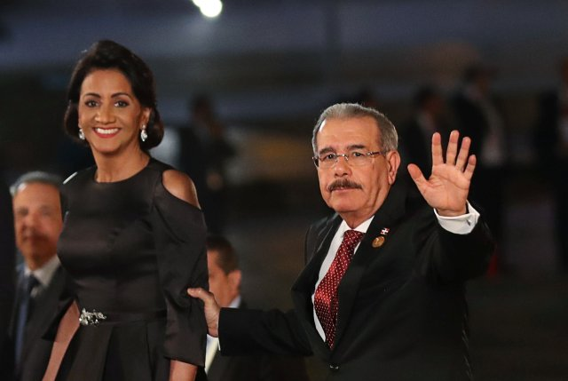 Dominican President Danilo Medina arrives for the inauguration of the VIII Summit of the Americas in Lima, Peru April 13, 2018. REUTERS/Marco Brindicci