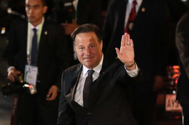 Panama's President Juan Carlos Varela arrives for the inauguration of the VIII Summit of the Americas in Lima, Peru April 13, 2018. REUTERS/Marco Brindicci