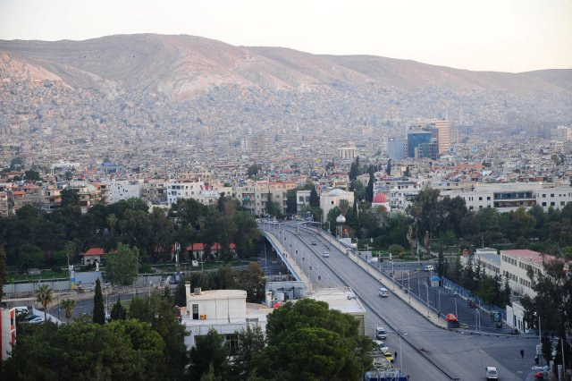 A general view shows the city of Damascus, Syria April 14, 2018. SANA/Handout via REUTERS THIS IMAGE HAS BEEN SUPPLIED BY A THIRD PARTY. REUTERS IS UNABLE TO INDEPENDENTLY VERIFY THIS IMAGE