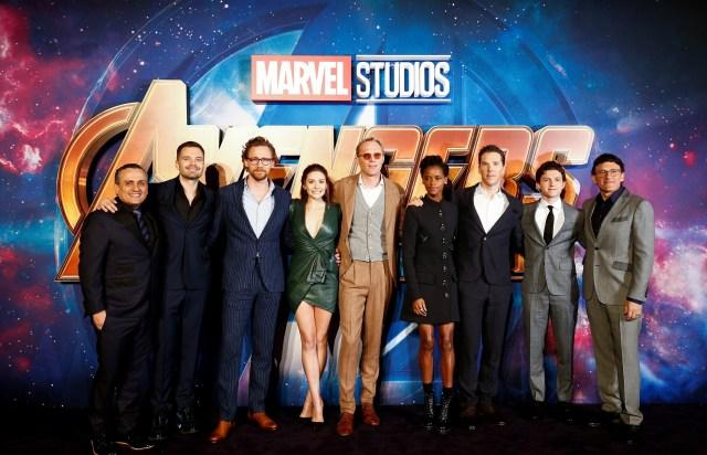 "Parte del elenco del filme ""Avengers: Infinity War"", en un evento para seguidores de la saga en Londres, abr 8, 2018. REUTERS/Henry Nicholls"