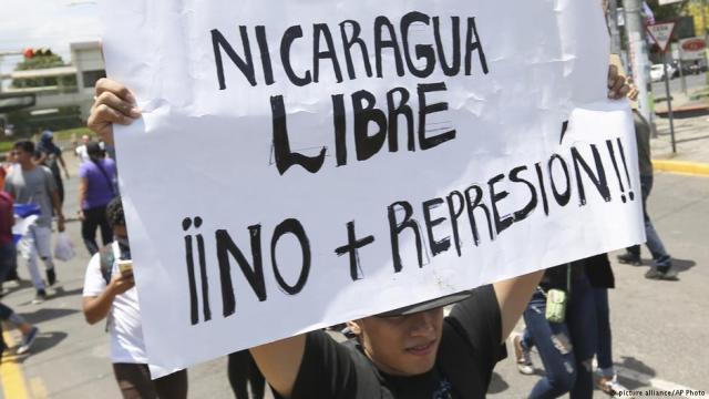 Protestas en Nicaragua. Foto: AP