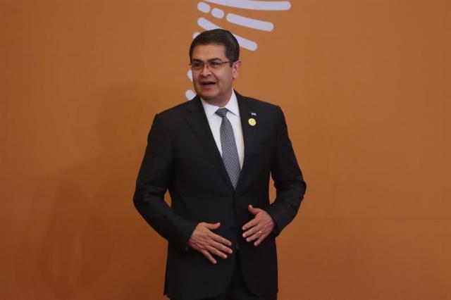 Juan Orlando Hernández en la Cumbre de las Américas // Foto EFE