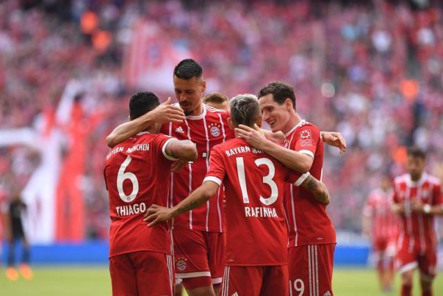 Bayern se sacudió la derrota contra el Madrid del pasado miércoles   Foto: EFE