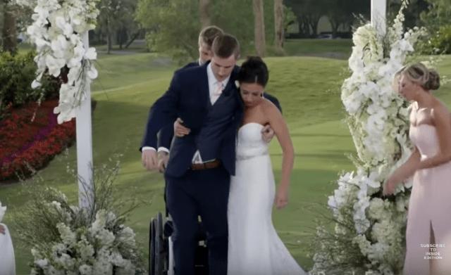 Foto: Chris Norton, jugador de fútbol americano caminó en su boda tras vivir siete años parapléjico /  Inside Edition