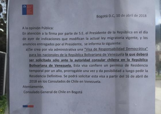 Foto: Consulado de Chile en Bogotá, Colombia / Cortesía