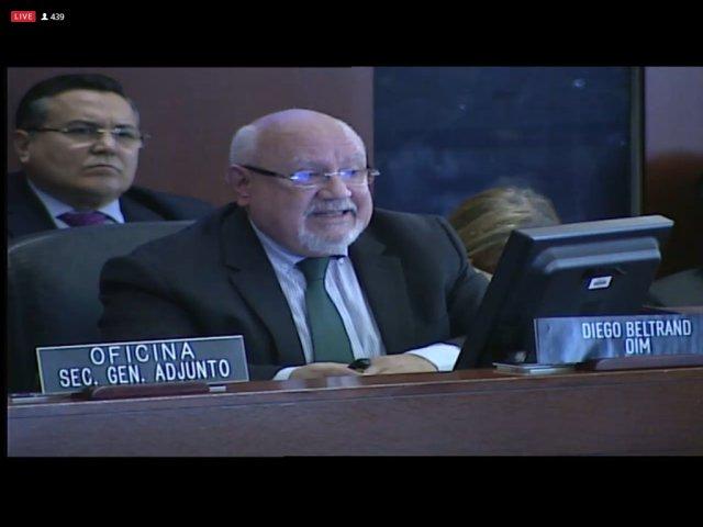 Diego Beltrand, Director Regional para América del Sur de la Organización Internacional para las Migraciones. Foto: Captura de pantalla.