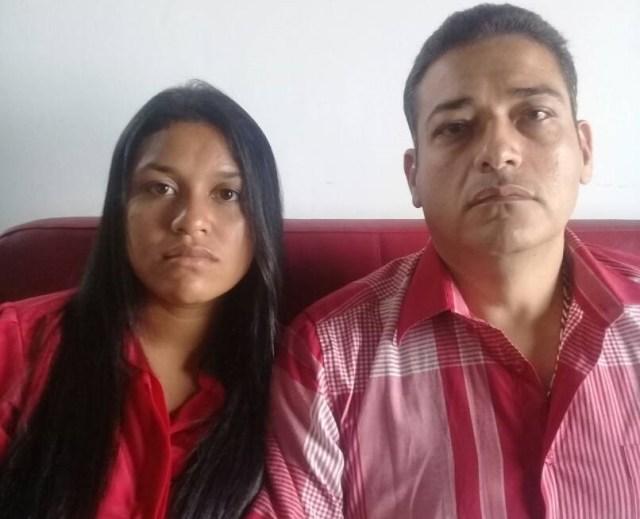 Eduaris Solis Marín y Gerald Zambrano, padres de las víctimas de abuso sexual infantil en manos de sus abuelos