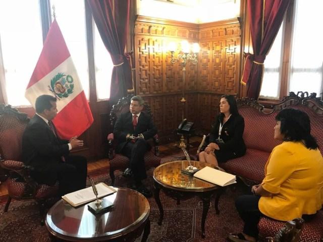Parlamento Amazónico entregó a Congreso de Perú acuerdo en rechazo a creación del Arco Minero. Foto NDP