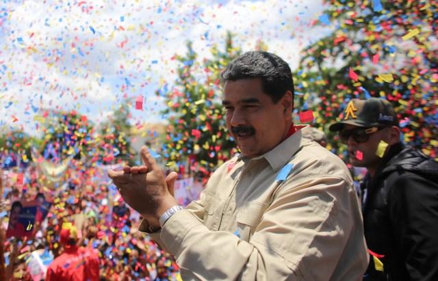 Foto: El presidente de República, Nicolás Maduro, frente a una concentración en el estado Lara / AVN