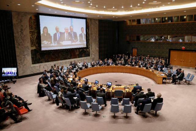 Imagen de archivo del Consejo de Seguridad de la ONU reunido para debatir sobre Siria en la sede del organismo en Nueva York, abr 9, 2018. REUTERS/Brendan McDermid