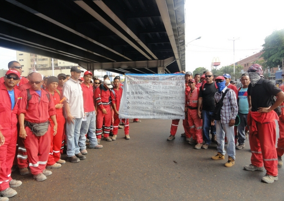 Foto: En Puerto La Cruz, trabajadores petroleros protestaron por reivindicaciones laborales / El Tiempo