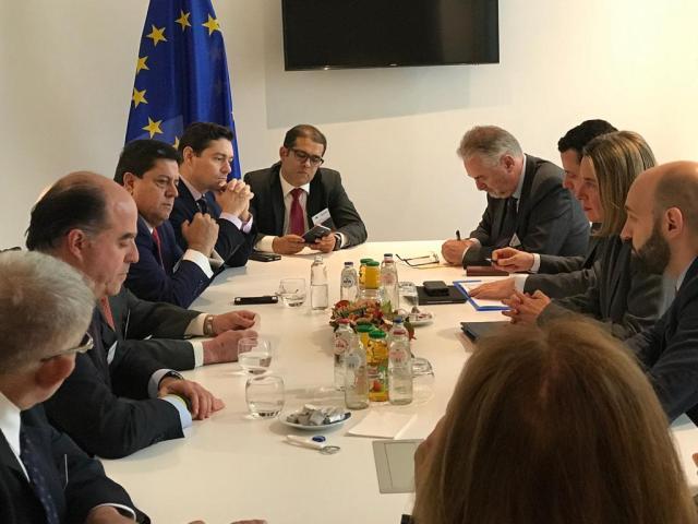 Unión Europea Federica Mogherini y oposición (2)
