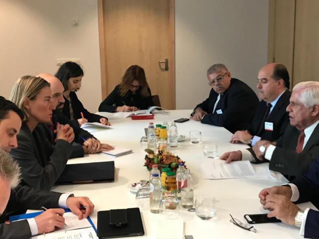 Unión Europea Federica Mogherini y oposición (5)