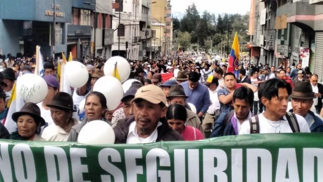 Cientos de personas plenaron las principales calles de la ciudad de Quito en demanda de paz (Foto: Nota de prensa)