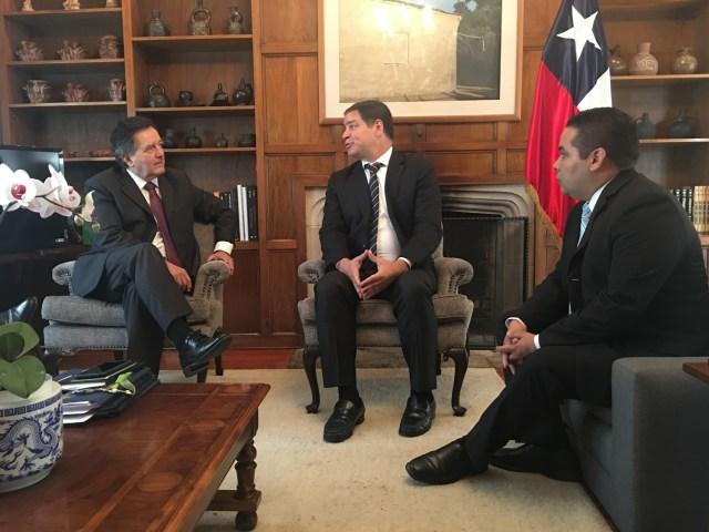 Foto: Luis Florido se reunió con canciller de Chile para alinear acciones en Cumbre de Las Américas / Prensa