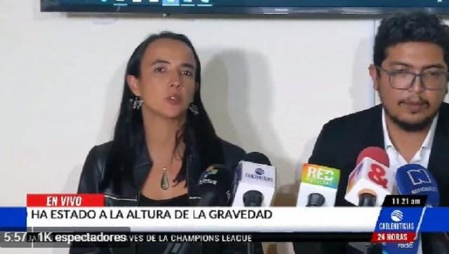 Representantes de la Flip en Colombia // Foto captura tv