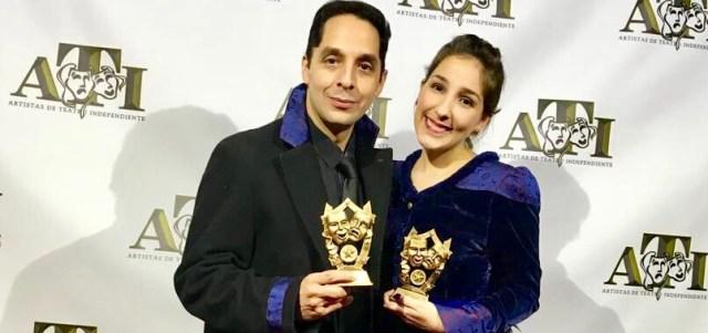 El actor venzolano José Luis Useche y la directora venezolana Cristina Noya. Foto: @usecheu