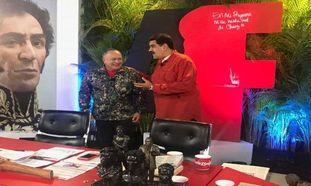 Diosdado Cabello y Nicolás Maduro. Foto: @TeleAragua