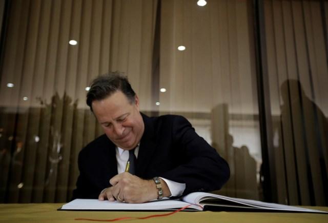 Imagen de archivo del presidente de Panamá, Juan Carlos Varela  REUTERS/Juan Carlos Ulate
