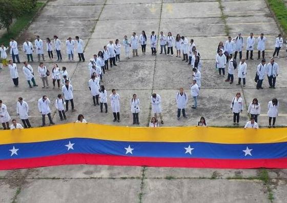 Foto: Médicos residentes de la ULA protestan ante la crisis en el sector salud / Leonardo León