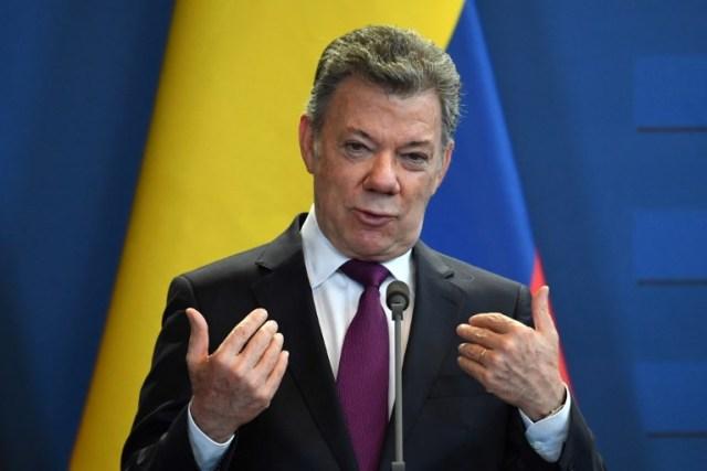 Juan Manuel Santos, presidente de Colombia / FOTO: AFP / ATTILA KISBENEDEK