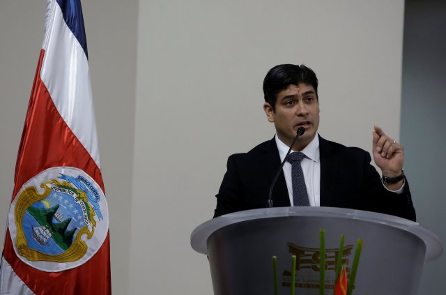 Alvarado recibirá la cinta presidencial de manos del mandatario saliente Luis Guillermo Solís | FOTO: REUTERS