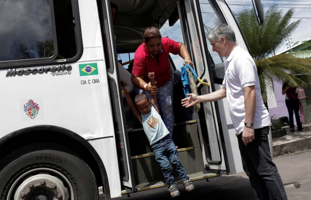 Venezuelan refugees arrive at UNHCR shelter in Manaus, Brazil May 4, 2018. REUTERS/Bruno Kelly