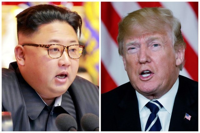 Foto de archivo: Una combinación de imágenes muestra al líder norcoreano, Kim Jong Un, en Pyongyang, Corea del Norte, y al presidente estadounidense, Donald Trump, en Palm Beach, Florida, Estados Unidos, respectivamente de archivos de Reuters. REUTERS/KCNA a través de Reuters y Kevin Lamarque