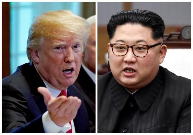 IMAGEN DE ARCHIVO: Combinación de fotos del presidente de Estados Unidos, Donald Trump, y del líder norcoreano Kim Jong Un. 17 de mayo de 2018 y 27 de abril de 2018, respectivamente  REUTERS/Kevin Lamarque y Korea Summit Press Pool/