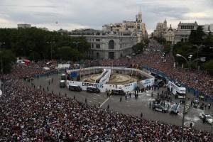 En imágenes: Así fue la celebración del Real Madrid tras conquistar la Champions League