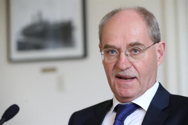 El representante de la Delegación de la Unión Europea (UE) en Uruguay, Karl-Otto König. EFE/Fabiana Fourcade