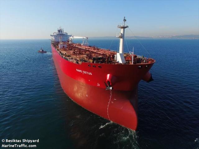 Foto referencial del buque petrolero Nave Cetus
