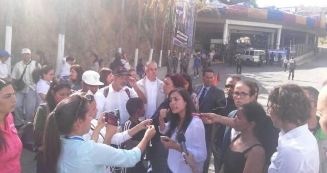 Patricia de Ceballos, esposa del preso político, Daniel Ceballos. Foto: Twitter