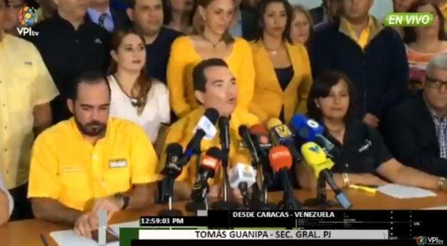 El diputado a la Asamblea Nacional, Tomás Guanipa | Foto: @VPITV