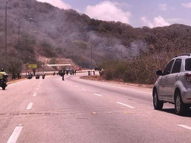 Represión en Nueva Esparta. Foto: Twitter
